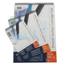 Winsor & Newton Smooth Surface Cartridge Pads 150gsm A3. Artists Sketching Paper
