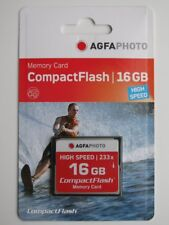AGFA Compact Flash CF Karte 16GB HighSpeed 233x/300x (10434) NEU(world*) 003-052