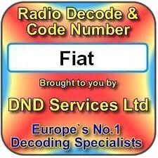 Fiat Radio Code Decode Unlock by Serial Number