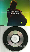 CRAIG DAVID Insomnia RARE RADIO EDIT Europe Made PROMO DJ CD single USA SELLER