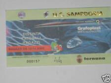 SAMPDORIA - TERNANA TICKET BIGLIETTO 2001/02 SERIE  A