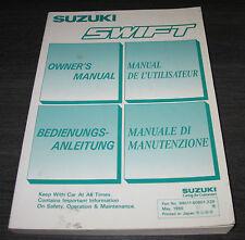 Betriebsanleitung Suzuki Swift Typ MA Owner´s Manual Stand  05/1990