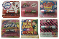 6 Flavored Lip Balm Blow Pop Jolly Rancher Cotton Candy Nerds Lucky Charms LOL