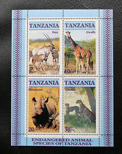 TIMBRES ANIMAUX DIVERS : TANZANIE 1986 BLOC FEUILLET N° 47** SANS CHARNIERE TBE