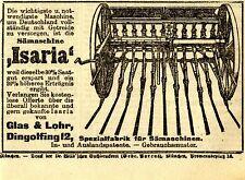 Vetro & Lohr Dingolfing SEMINATRICE trainata ISARIA storica la pubblicità di 1918