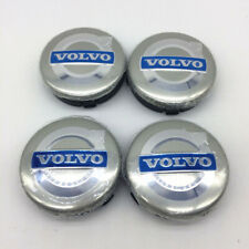 4pcs/set 64mm Wheel Center Hub Caps Rim cap Grey Blue Emblem Log for Volvo