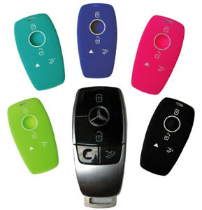 Mercedes Benz Key Fob Keyless Entry Silicone Rubber Remote Cover skin 2019 2020