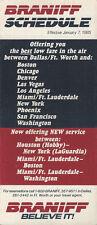 Braniff Airways system timetable 1/7/85 [308BN] Buy 4+ save 25%