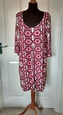Evie Collection Womens Floral Boho Hippy 3/4 Sleeve Party Dress Size 18-20 BNWT