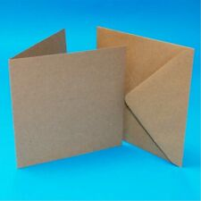 Square Recycled Kraft Cards and Envelopes  Various Sizes