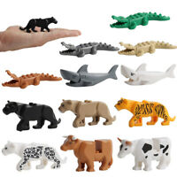 Crocodile Tiger Cow Buildable Model kids Animal Building Block Toys Fit Decor