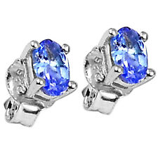 Natural Tanzanite 925 Sterling Silver Stud Earrings Jewelry 2513E