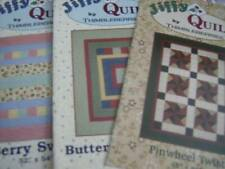 3 Thimbleberries Jiffy Quilts PATTERNS-Pinwheel Twist,Buttermint Patches & B