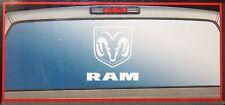 dodge rear window graphics sticker decal mopar white windshield logo back new