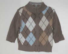babyGAP Size 6-12 Months Boys Brown Cardigan Sweater