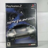 Spy Hunter Complete Sony Playstation 2 PS2 Game & Book Tested Works Black Label