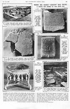 1930.Art.Ras Shamra. archéologie. lexicon. les scribes. egyptian temple. authentique. antique