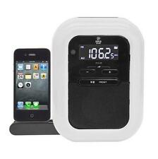 New Pyle iPod/iPhone Speaker Docking Station FM Radio Alarm Clock Aux-In for MP3