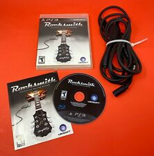 Rocksmith Playstation 3 Game Bundle W/Ubisoft Real Tone Cable PS3 WE SHIP ASAP!