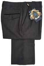 Pantalones de hombre delantero liso de color principal gris