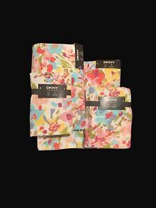 DKNY Bathroom Floral Bath Towel Set Of 6  💯 Cotton