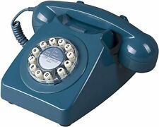 Wild Wolf 746 Phone Rotary style Retro Home Telephone Biscay Blue new in bad box