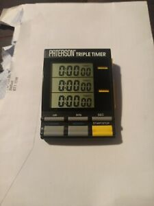 Paterson Triple Timer For Photographic Darkroom Use ~ GOOD WORKING CONDITION
