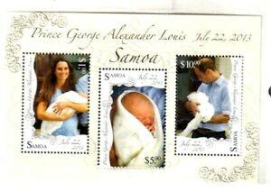 Samoa Postage Sheet Stamp – Birth of Prince George – William & Kate's Royal Baby