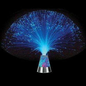 Glasfaser Lampe LED mit Farbwechsel Lichtfaser Dekoleuchte Fiberglas bunt