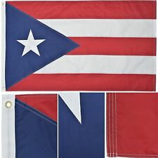 Puerto Rico 3 x 5 Ft Nylon Premium Outdoor Embroidered Double Sided Flag