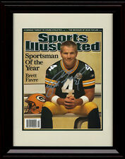 Framed Brett Favre Sports Illustrated Autograph Replica Print Packers SoY