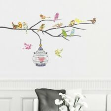 Decowall Bird Branch Birdcage Nursery Kids Removable Wall Stickers Decal DW-1202
