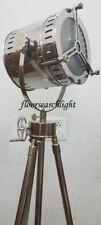 DESIGNER REVOLVING TRIPOD STAND FLOOR LAMP SEARCHLIGHT STUDIO SPOTLIGHT NAUTICAL