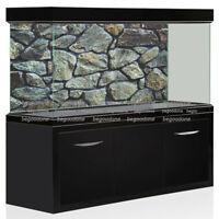 HD Rock Stone Aquarium Background PVC Fish Tank Landscape Poster Decorations