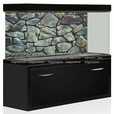 HD Rock Stone Aquarium Background PVC Fish Tank Landscape Poster Decorations