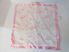 Disney Store Pink & White Classic Winnie the Pooh Lovey Security Blanket