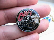 CAFE RACER MOTORCYCLE BIKER PIN BADGE VINTAGE MOTORBIKE FAN RACING ACE SHOP