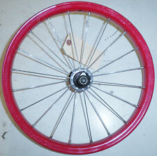 """16"""" FRONT RED/BLACK YOUTH/KIDS BICYCLE RIM BIKE PARTS FW007"""