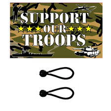 We Support Our Troops Flag 5 x 3 ft. Comes With FREE  BALL TIES