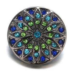 10pcs Crystal Alloy Charm Ginger Snap Button Fit 18mm Snap Necklace/Bracelet