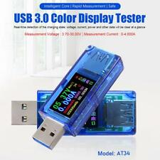 USB 3.0 Full-Color LCD Display Battery Charge Power Bank Voltage Current Tester
