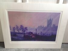 """Rolf Harris Signed Limited Edition Print """"Painting Parliament"""" Mounted with COA"""