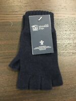 100% Cashmere Fingerless Gloves | Johnstons of Elgin | Made in Scotland | Navy
