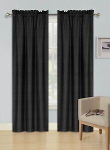 1 SET ROD POCKET WINDOW DRESSING LINED PANEL CURTAIN BLACKOUT FOAM THERMAL R64