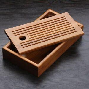 Chinese Bamboo Tea Tray Solid Bamboo Tea Board Kung Fu Tea Tools for Cup Tray