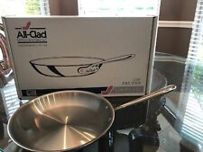 """All-Clad 12"""" Inch Fry Pan Stainless Steel Skillet - NEW"""
