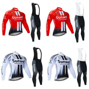 Mens Long Sleeve Cycling Jersey+Padded Pants Mountain Bike Road Windproof Jacket