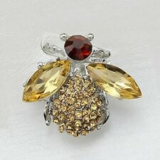 Exquisite Crystal Bee Rhinestone Brooch Pin Fashion Party Jewelry Women's Gift