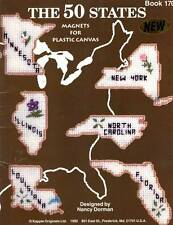 50 States Magnets Plastic Canvas Patterns FREE SHIPPING
