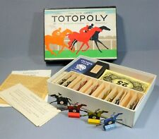 1950's  TOTOPOLY BOARD GAME BY WADDINGTONS VINTAGE MISSING BOARD BOXED